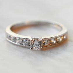 Solitaire Volga diamant or...