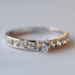 Solitaire Volga diamant or blanc