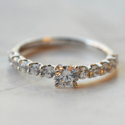 Solitaire Colombia diamant or blanc