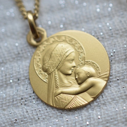 medaille bapteme Douce Mere