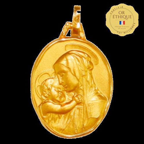 medaille bapteme Vierge Reine