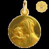 medaille bapteme Vierge Souveraine brillante