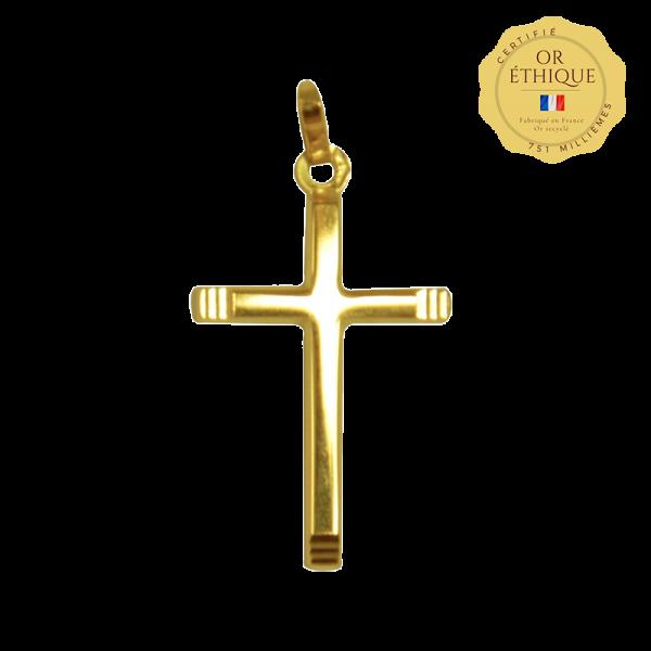Croix de bapteme Croix facettes
