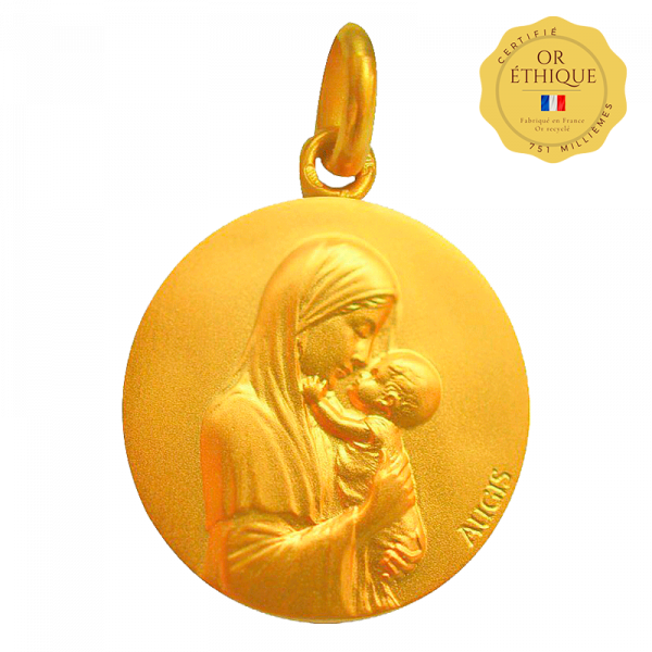 medaille bapteme Vierge Maternelle