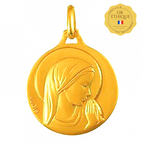 Medaille bapteme Vierge en prière