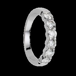 Alliance diamants griffes - Demi-tour