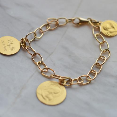 Bracelet Famille or 18 carats 9.90gr