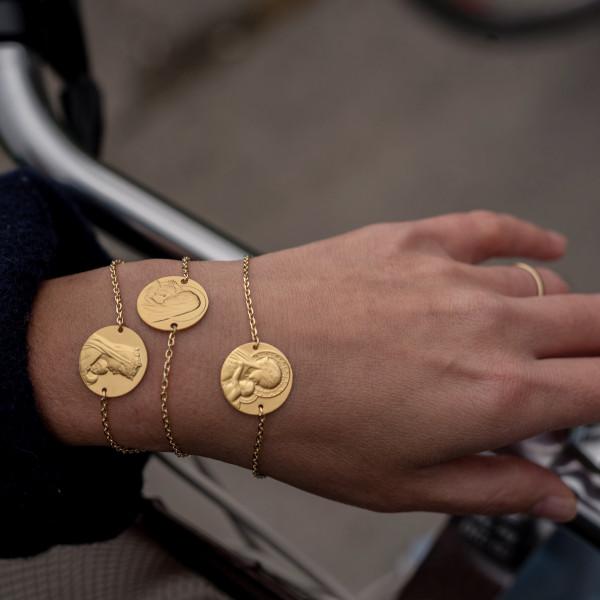 Bracelet médaille Douce mère or 18carats 3.65gr