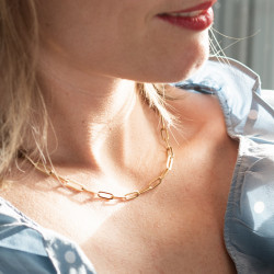 Collier maille trombone...