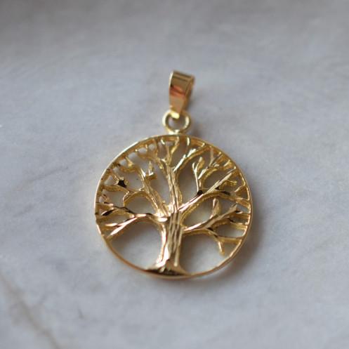 Médaille Arbre de vie ajourée or jaune 18cts