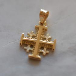 Croix Jérusalem or jaune 18...