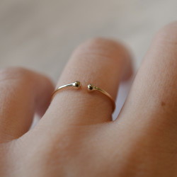 Bague infinie or jaune 18 cts