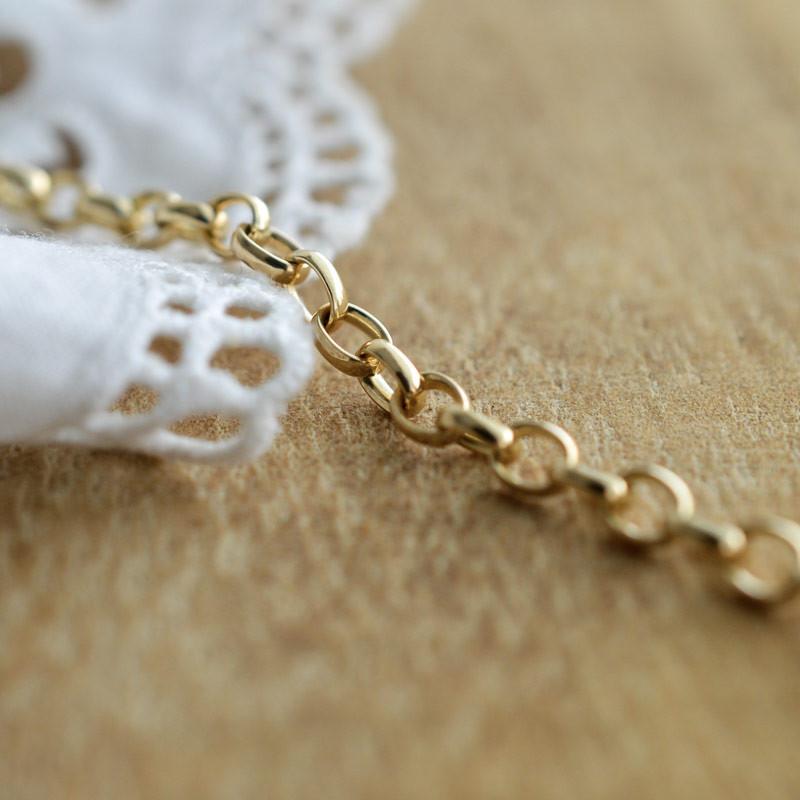 Bracelet maille Jaseron ovale 3mm
