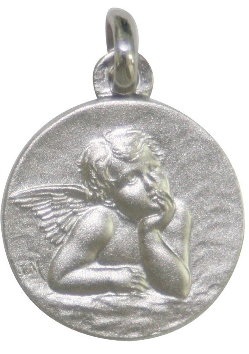 Medaille bapteme Or Blanc 18 carats