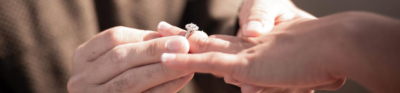Bague de fiançailles solitaire